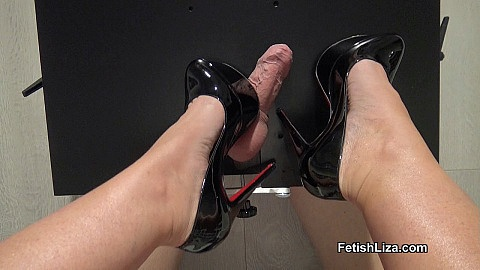 Cockbox shoejob with Victoria heels