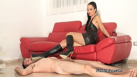 Cum on My extreme boots part 1