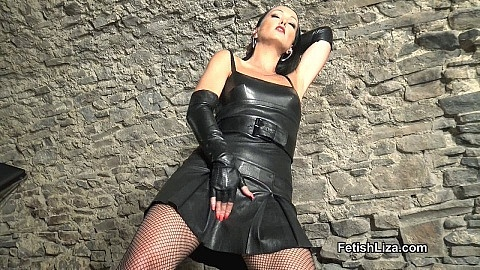 Stroke to my new leather dress