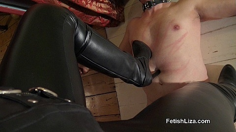 Suffer under My leather boots